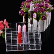 24 Lipstick Holder Display Stand Clear Acrylic Cosmetic Organizer Makeup Case Sundry Storage makeup organizer organizador Brand