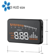 3 Inch X5 OBD2 HUD Head-up Display Car Water Temperature Speedometer Head Up Display Electronic Auto Dash Screen Projector 3 5 screen hud a1000 obd2 digital speedometer universal car head up display windshield projector head up display car styling