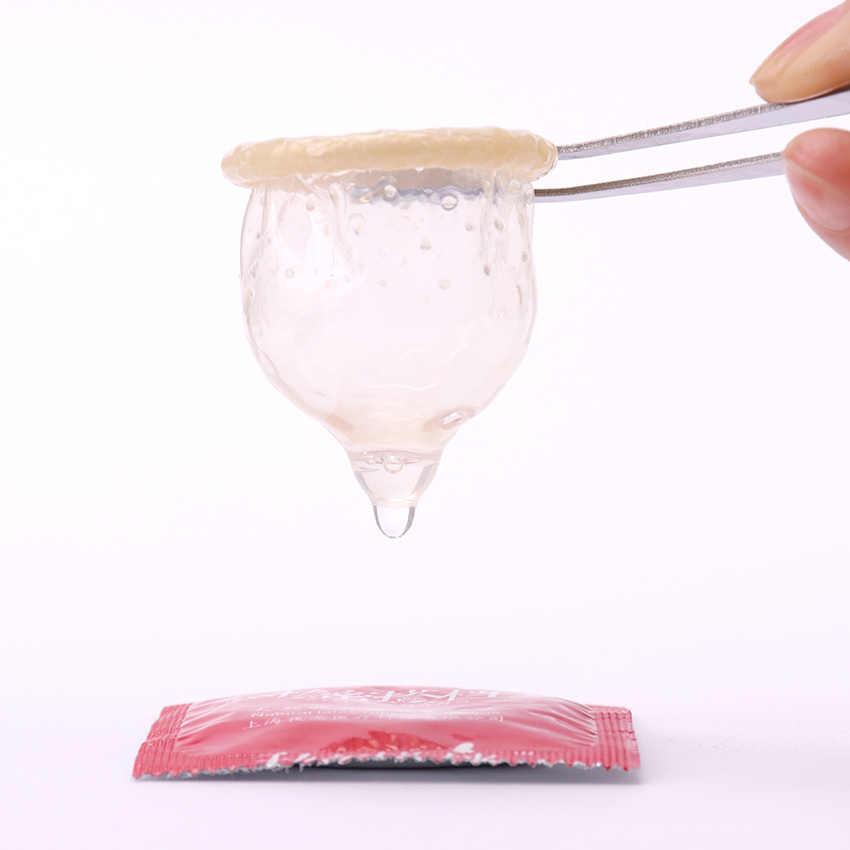 Gポイントセクシーなラテックスコンドームプレジャー天然ゴムペニスビッグ粒子コンドーム男性のエロ男性避妊コンドーム 10 個