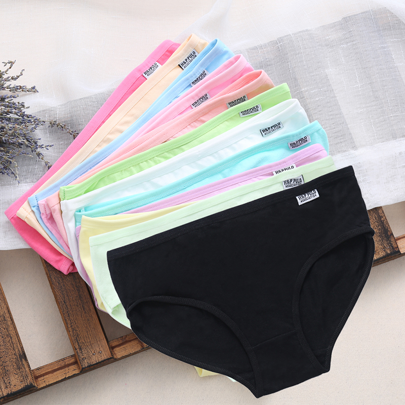 Sexy Women High Quality Cotton Panties Pretty Briefs Lingerie Low Waist Underwear Fashion Panties Knickers