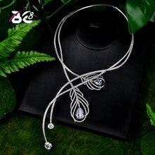 Be 8 роскошное блестящее микро cz камень паворешное ожерелье