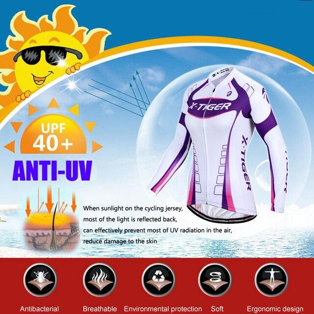 X-Tigre 100% Poliéster Mulher Ciclismo Conjunto Camisa Desgaste Kit Primavera Uniformes De MTB Bicicleta Roupas de Bicicleta Vestuário Ciclismo hombre 2