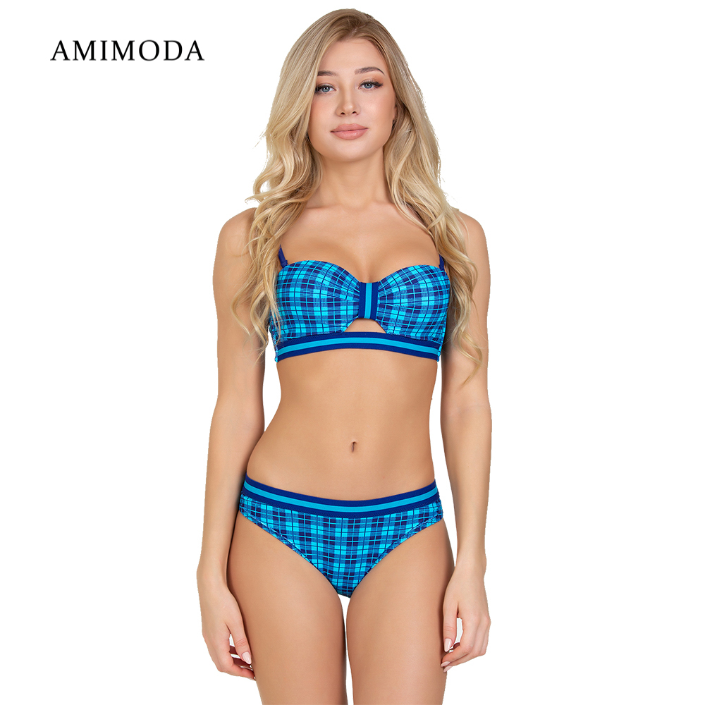 Two-Piece Suits Amimoda FD19109-3002 separate swimsuit for women hollow out two piece dress