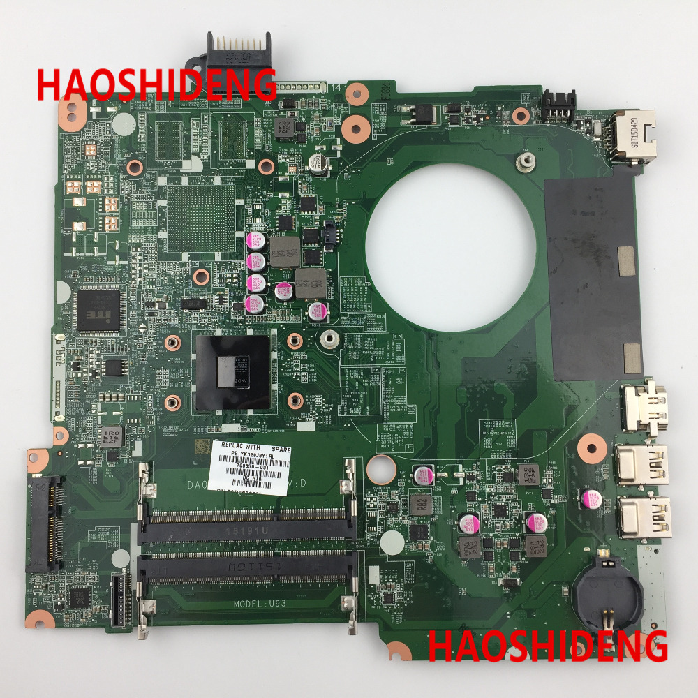 790630-501 U93 for HP Pavilion 15-N 15-F series Motherboard with A6-5200 cpu.All functions 100% fully Tested! 574680 001 1gb system board fit hp pavilion dv7 3089nr dv7 3000 series notebook pc motherboard 100% working