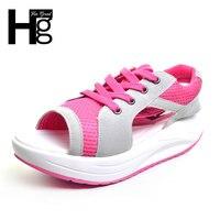 HEE ĐẠI Hot Phụ Nữ Khỏe Mạnh Sandals Peep Ngón Chân của Phụ Nữ Nêm Giày Thường Phổ Biến Đầy Màu Sắc Giày Mùa Hè Phụ Nữ XWZ189