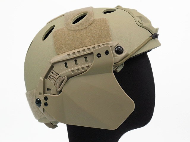Airsoft Military Tactical Climbing FAST Helmet Side Cover For Helmet Rail Helmet Accessory Accessories Mens Black/DE/FG Colour ...