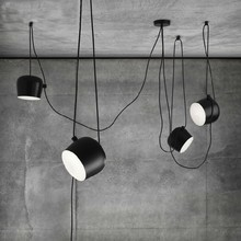 Modern White Black Chandelier Lighting 1/2/3/5 Lights Aluminium LED Retro Hanging for Dining Room Living room Office Bar