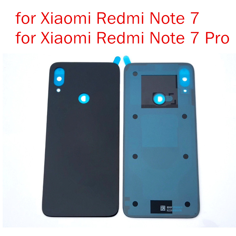 Glue Battery Repair-Spare-Parts Redmi Note7-Pro Back-Cover Glass Rear-Door-Housing Xiaomi