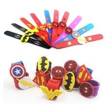 20 шт супергерой СЛЭП браслет Марвел Капитан Америка человек паук СЛЭП Браслеты регулируемые силиконовые браслеты
