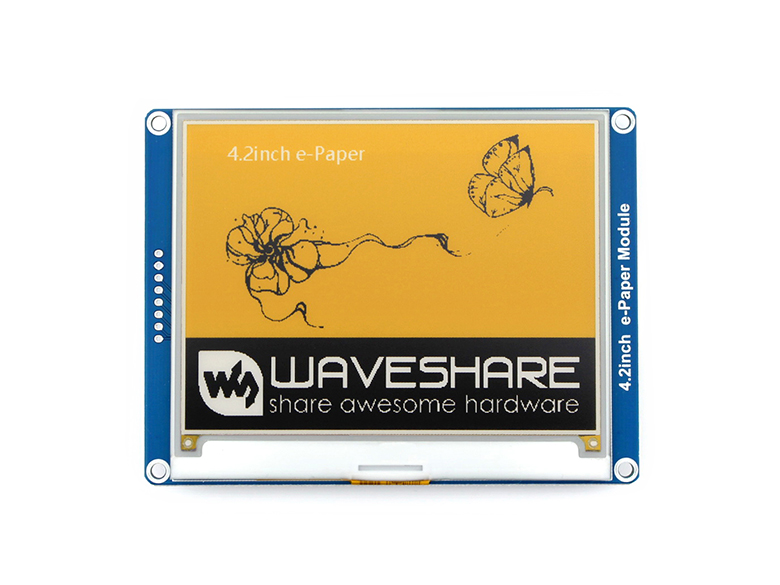 4.2inch e Paper Module (C) 400x300, yellow/black/white three color,SPI interface,No Backlight Ultra low consumption-in Demo Board from Computer & Office    1