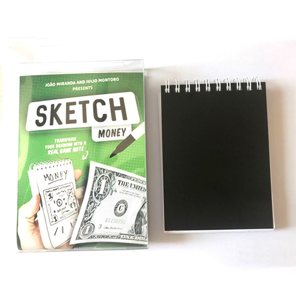 SKETCH MONEY by Miranda and Julio Montoro magic tricks (Gimmick+online instructions ) close up stage magic props magician magie party magic tricks prop and training set money press