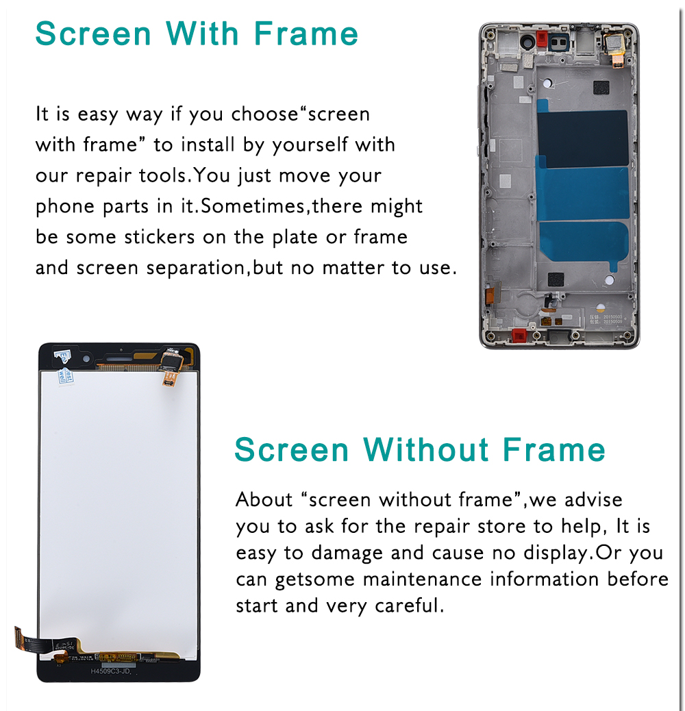 "HTB17yEhaUzrK1RjSspmq6AOdFXae Huawei P8 Lite LCD Display Touch Screen Digitizer Assembly With Frame Replacement ALE-L04 ALE-L21 For 5.0"" Huawei P8 Lite LCD"