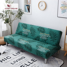 Slowdream Green Leaf Sofa Bed Cover For Living Room Removable Stretch Elastic Band Anti-Dirty Folding Cover Decor Home Couch slowdream leaf anti dirty sofa cover decor home seat nordic cape on the sofa stretch elastic couch cover removable slipcover