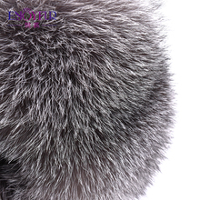 ENJOYFUR Warm Women Winter Hat Earflap Real Fox Fur Patchwork Genuine Leather Caps With Earflaps Russian Bomber Hats Ushanka