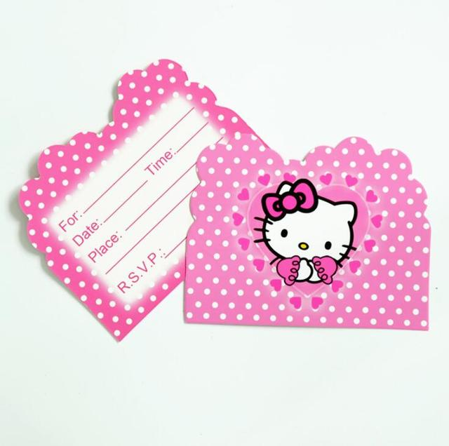 10 Buah 11 14 Cm Hello Kitty Tema Kartu Undangan Ulang Tahun