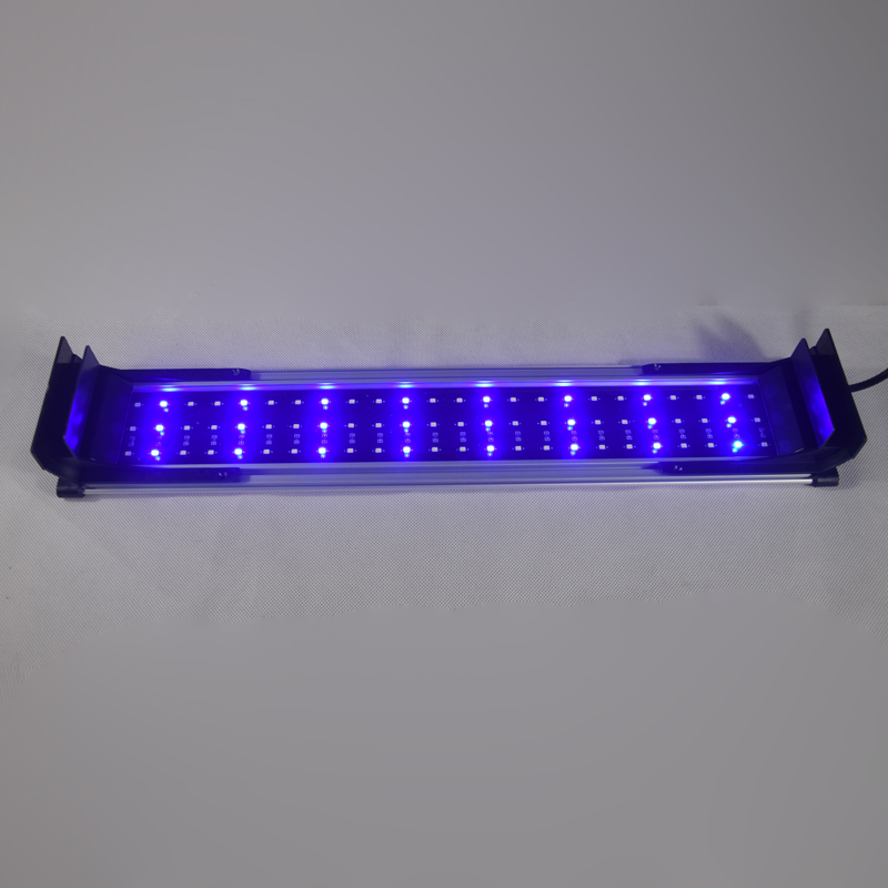 40 60cm 15W Aquarium LED Lighting Fish Tank Light Lamp with Extendable Brackets White and Blue LEDs Fit for Aquarium decro in Lightings from Home Garden