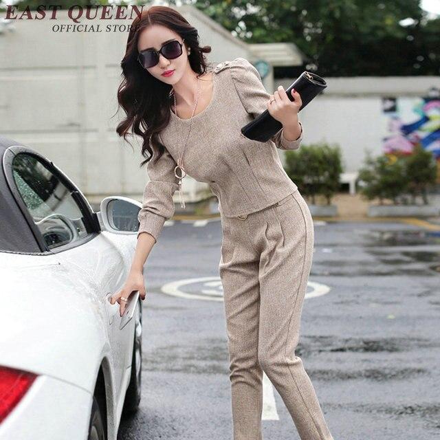 Frauen Zwei Stuck Outfits Weibliche Damen Business Buro Hosen Anzug