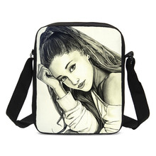 VEEVANV Vintage Small Crossbody Bags For Men Women Fashion Famous Star Ariana Grande 3D Printing Messenger Bag Casual Sling