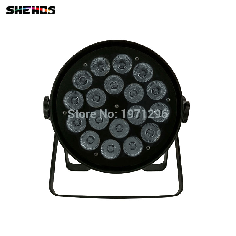 Mini LED Par Can 18x18W RGBWA+UV DMX Stage Lights Business Light High Power Light with Professional for Party KTV Disco DJ