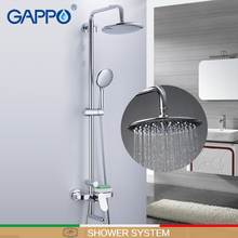 GAPPO Shower system brass and ABS shower sets bathroom rainfall mixer wall waterfall taps  griferia