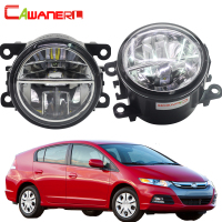 Cawanerl 2 Pieces Car Light 4000LM LED Bulb Fog Light DRL Daytime Running Lamp 6000K White