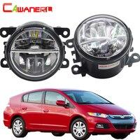 Cawanerl 2 Pieces Car Light 4000LM LED Bulb Fog Light DRL Daytime Running Lamp 6000K White