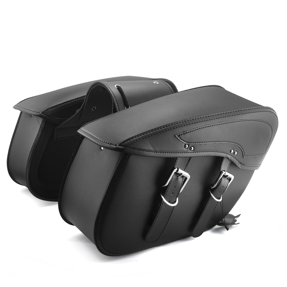 2X Motorcycle Saddlebag leather motorcycle Luggage Bags PU Leather For Harley Sportster XL 883 1200 XL883 XL1200 for cruiser