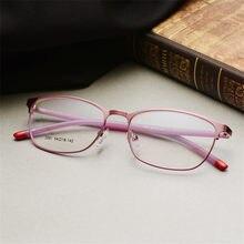 7129d006f لوحة معدنية إطار نظارات إطار بصري إطار نظارات قصر نظر التجارة كاملة السيدة النظارات  إطار كبير مرآة 3081