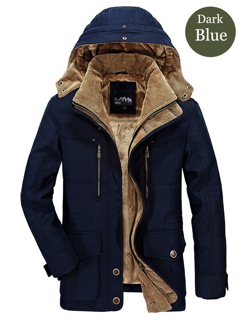 High Quality Men's Windbreaker Fleece Cotton Winter Jacket 2