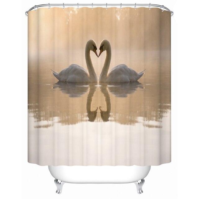 Tende Da doccia Bagno Tenda Due Bellissimo Cigno Nel Lago su La Tenda Della Docc