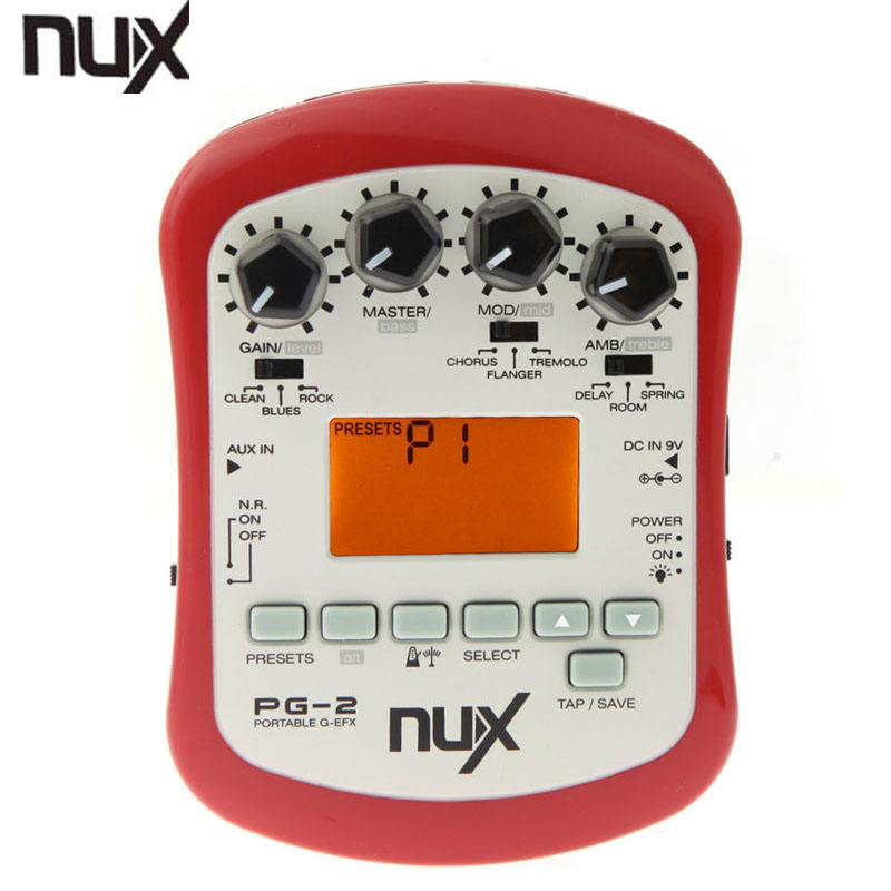 NUX PG-2 Electric Guitar Effect Pedal 24bit Multifunctional 18 types of preset Portable Guitarra Effect Guitar Accessories wodehouse p g barmy in wonderland