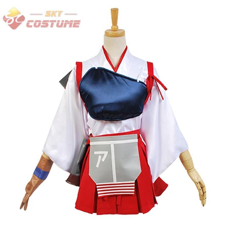 все цены на Kantai Collection KanColle Cosplay Akagi Uniform Skirt Halloween Cosplay Costumes For Women Custom Full Set онлайн