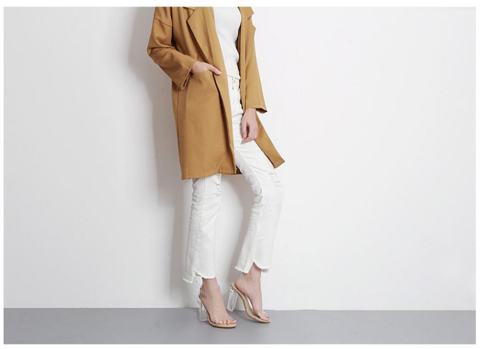 HTB17yGIoTvI8KJjSspjq6AgjXXa0 Aneikeh 2020 PVC Jelly Sandals Crystal Open Toed High Heels Women Transparent Heel Sandals Slippers Pumps 11CM Big Size 41 42