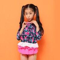Sunny eva dziewczyna pływanie garnitur dzieci floral print dzieci strój kąpielowy kostium bikini-2018 dzieci stroje kąpielowe dla dziewczynek druku