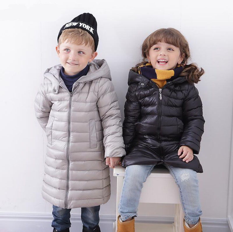 2017 new winter outerwear long for boys overcoat duck down jackets for baby girls clothing   winter coats kids snowsuit childre 2016 china factory russia winter parka padding jackets trousers overcoat clothing sets for boys ski suit reima baby snowsuit