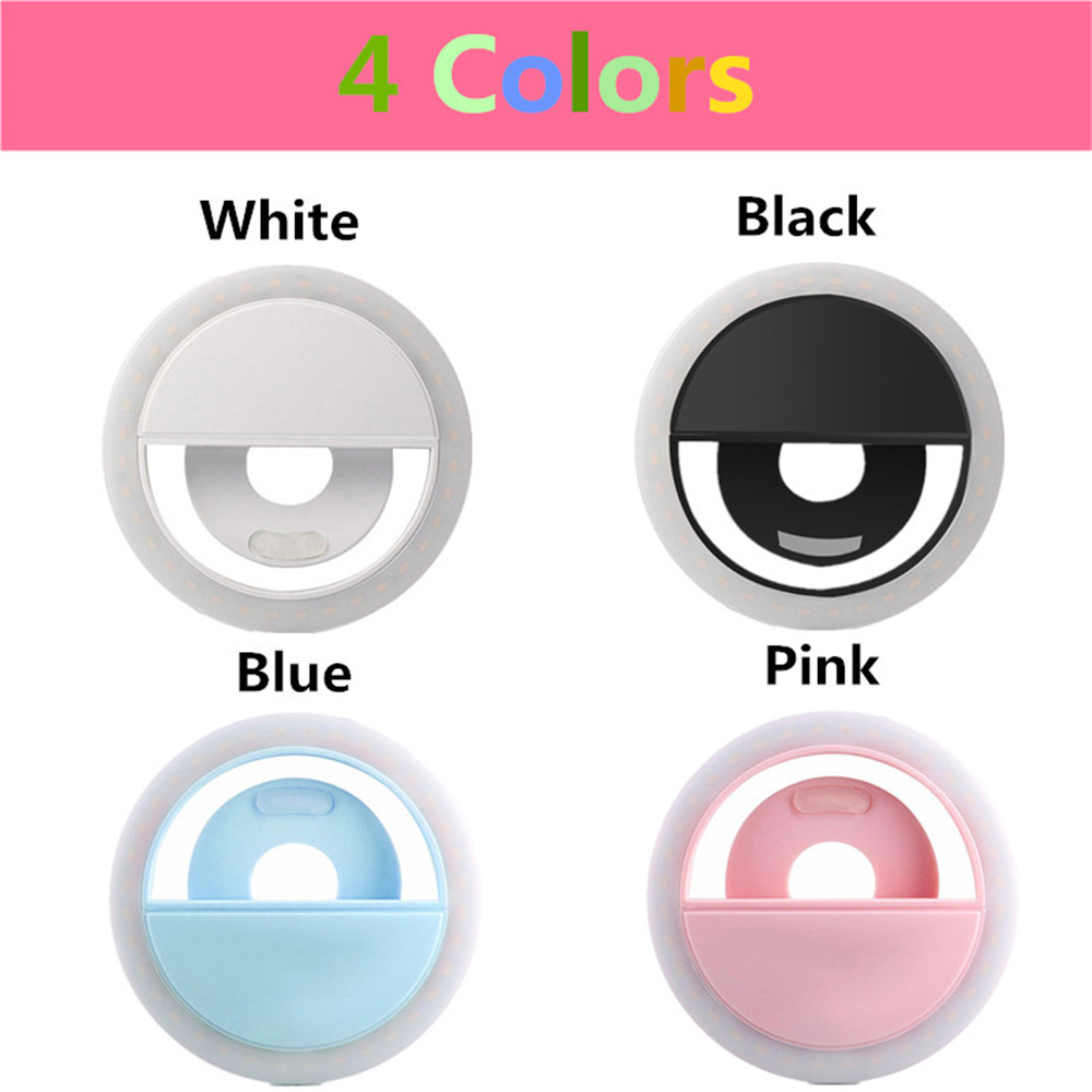 Selfie Portable LED Ring Fill Light Camera Photography for Cell Phone iPhone