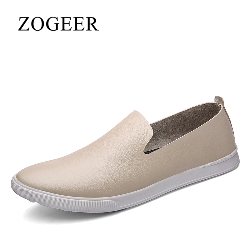 ZOGEER Big Size 38-46 Men Leather Flats Shoes, 2017 Brand Casual Men Summer Shoes, Breathable Male Loafers top brand high quality genuine leather casual men shoes cow suede comfortable loafers soft breathable shoes men flats warm