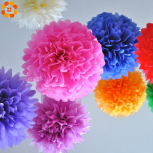 Diy Multi Colour 4 6 8 mixed Sizes 15pcs Paper Flowers Ball Wedding Home Birthday Party Car Decoration Tissue Pom Poms