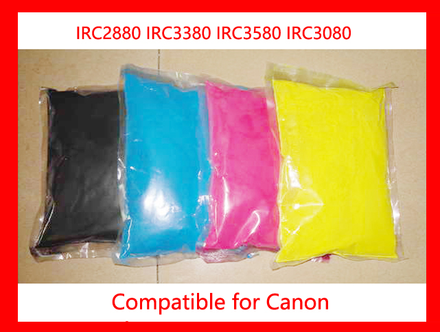 High quality color toner powder compatible for canon IRC2880 IRC3380 IRC3580 IRC3080 refill color toner CMYK