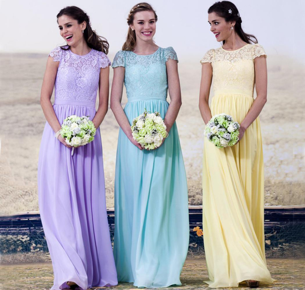 Compare prices on formal wedding dresses for women short online elegant lace scoop neck short sleeve long bridesmaid dresses for women formal occasion wedding party tank ombrellifo Image collections