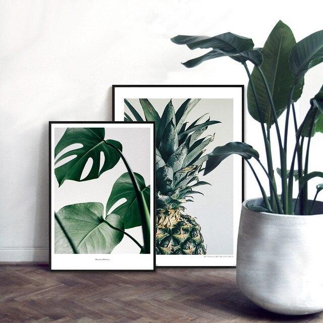 Tropische Pflanzen Blätter Muster Kunst Bild Kein Rahmen Dekorative ...