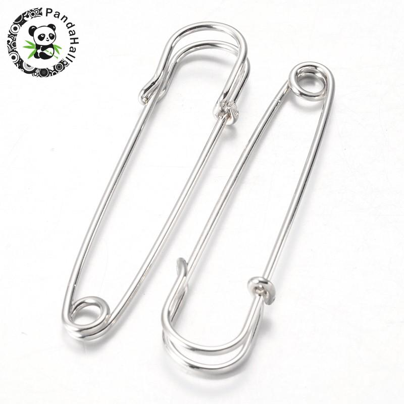 100pcs 64x18x6mm Iron Kilt Pins Brooch Jewelry Making DIY Accessories Findings, Metal, hole: about 4mm