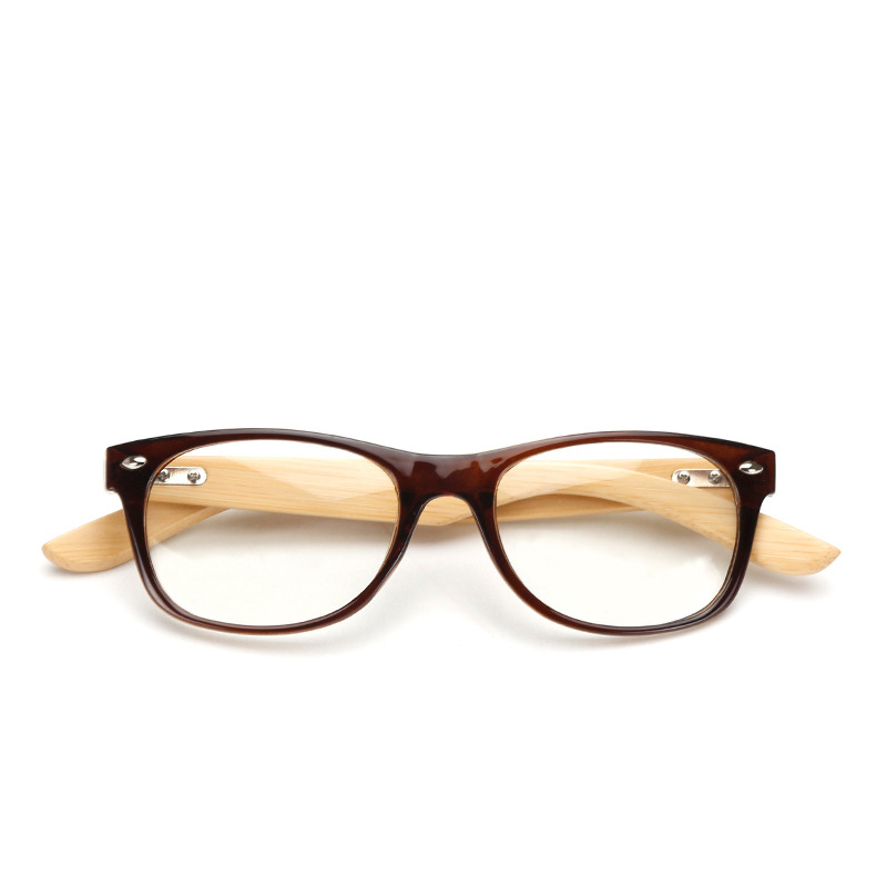 LVVKEE merek Kayu Bingkai wanita Mens datar cermin kacamata Baca - Aksesori pakaian - Foto 2