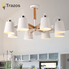 Fashion Colorful Modern Wood Ceiling Lights Lamparas Minimalist design shade Luminaire Dining Room Lights Ceiling Lamp(China)