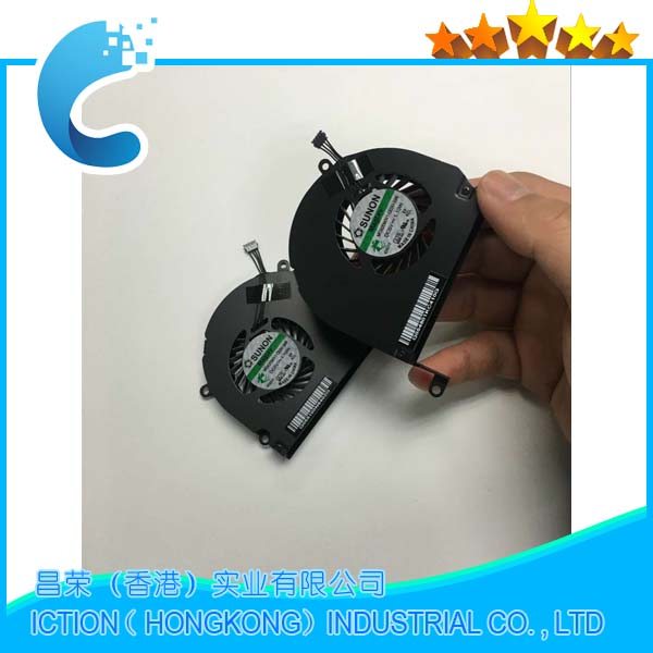 Genuine new A1286 cooling fan for MacBook Pro 15'' A1286 CPU Cooling Fan Left Right Set Pair 661-4952 661-4951 new laptop cpu cooler fan for macbook pro 15 a1286 fan left