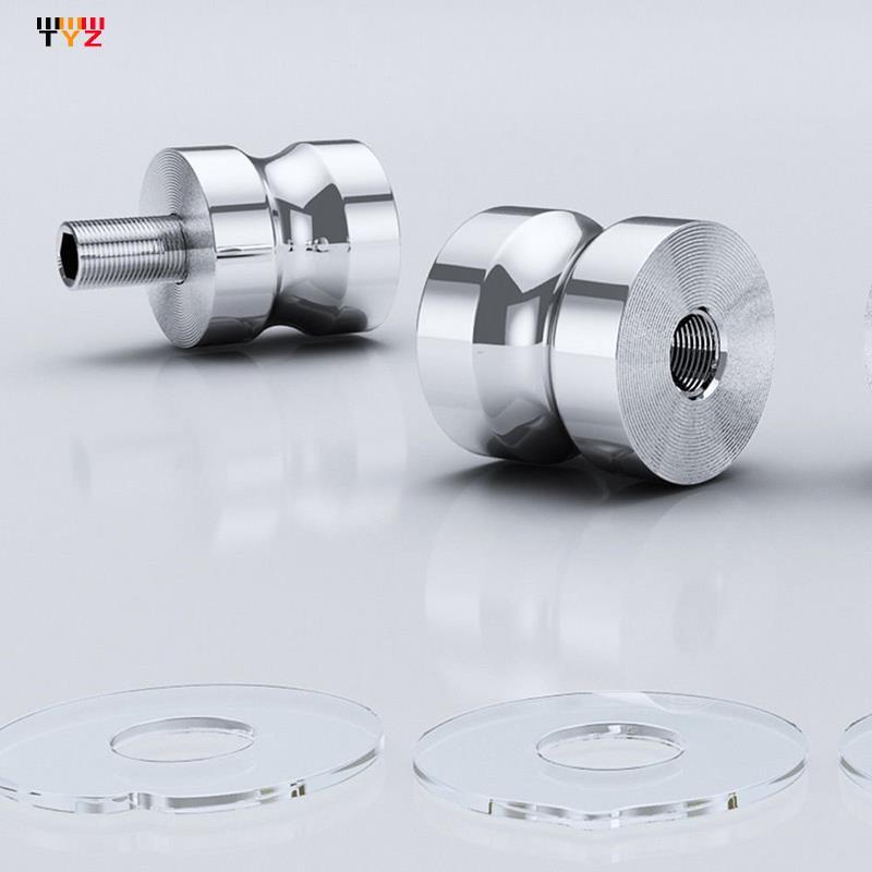 prezzo basso doccia maniglia per porta di vetro piccolo foro maniglia bagno porte in vetro metallo