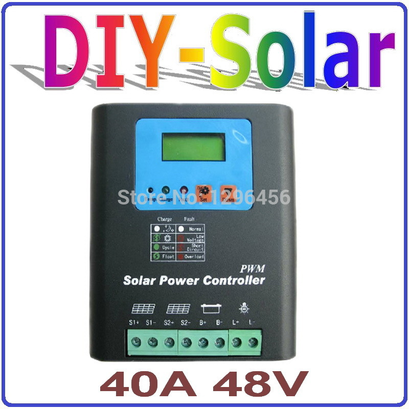 48V Battery Charger Regulator for 2000W PV Solar Panels LCD Display Charging Off Grid Solar Charge Controller 40A 48V system icharger 4010duo multi chemistry dc battery charger 10s 40a 2000w
