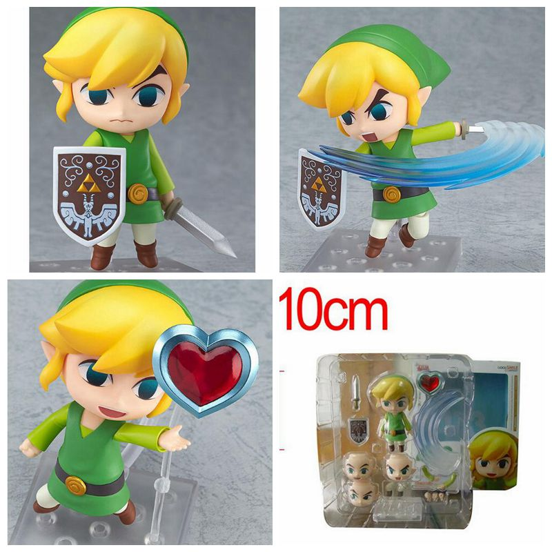 Original box Legend of Zelda Link Nendoroid PVC Action Figure Legend of Zelda Link Figure Game Legend of Zelda Model kids toys