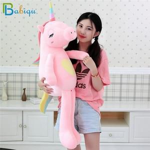 Image 3 - 1pc 60 160cm Kawaii Rainbow Unicorn Plush Toys Stuffed Animal Horse Plush Doll for Children Kids Appease Toy Gift for Girls