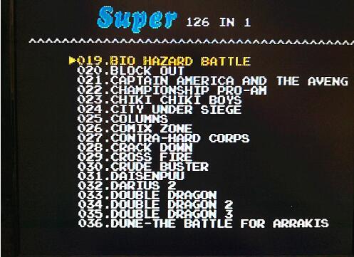 126 i 1 för Sega Megadrive Genesis Spelkort med Super Marioed Batman - Spel och tillbehör - Foto 3